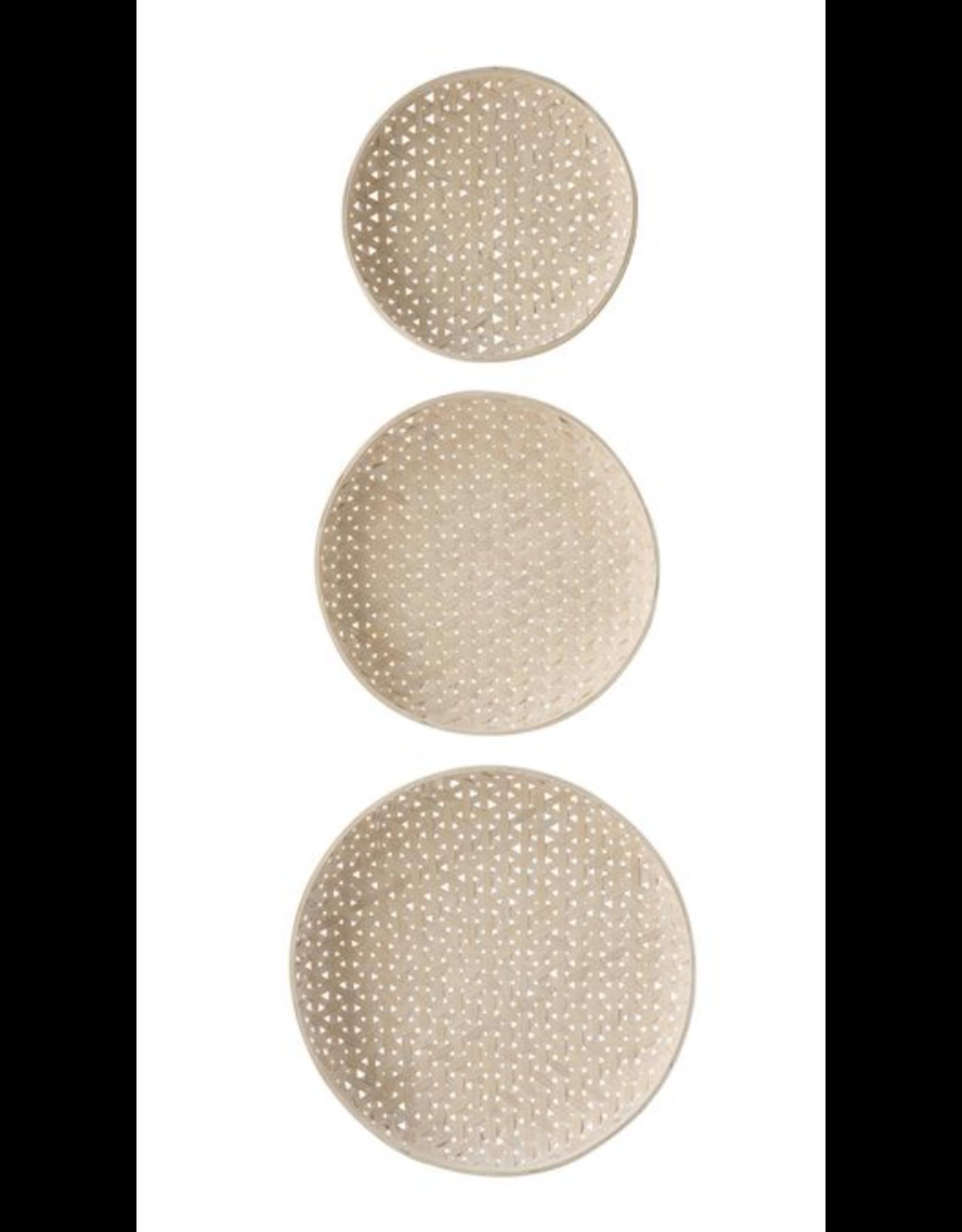 Bloomingville Round Woven Wood Basket Medium