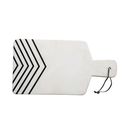 Bloomingville Marble Cheese/Cutting Board with White/Black Chevron