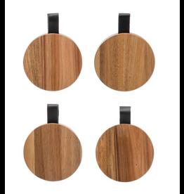 Bloomingville Acacia Wood Coasters, Set of 4