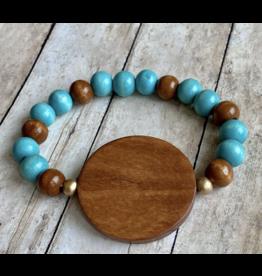KW Custom Creations 2 Wooden Beads Bracelet