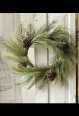 "Lancaster & Vintage 24"" Mixed Needle Pine Wreath"