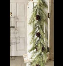 Lancaster & Vintage Mixed Needle Pine Garland 6'