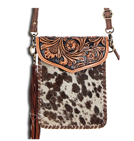 American Darling Leather Carved Cross Body