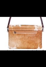 American Darling Brown on White Envelope Handbag