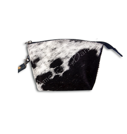 American Darling Black on White Hair On Pouch
