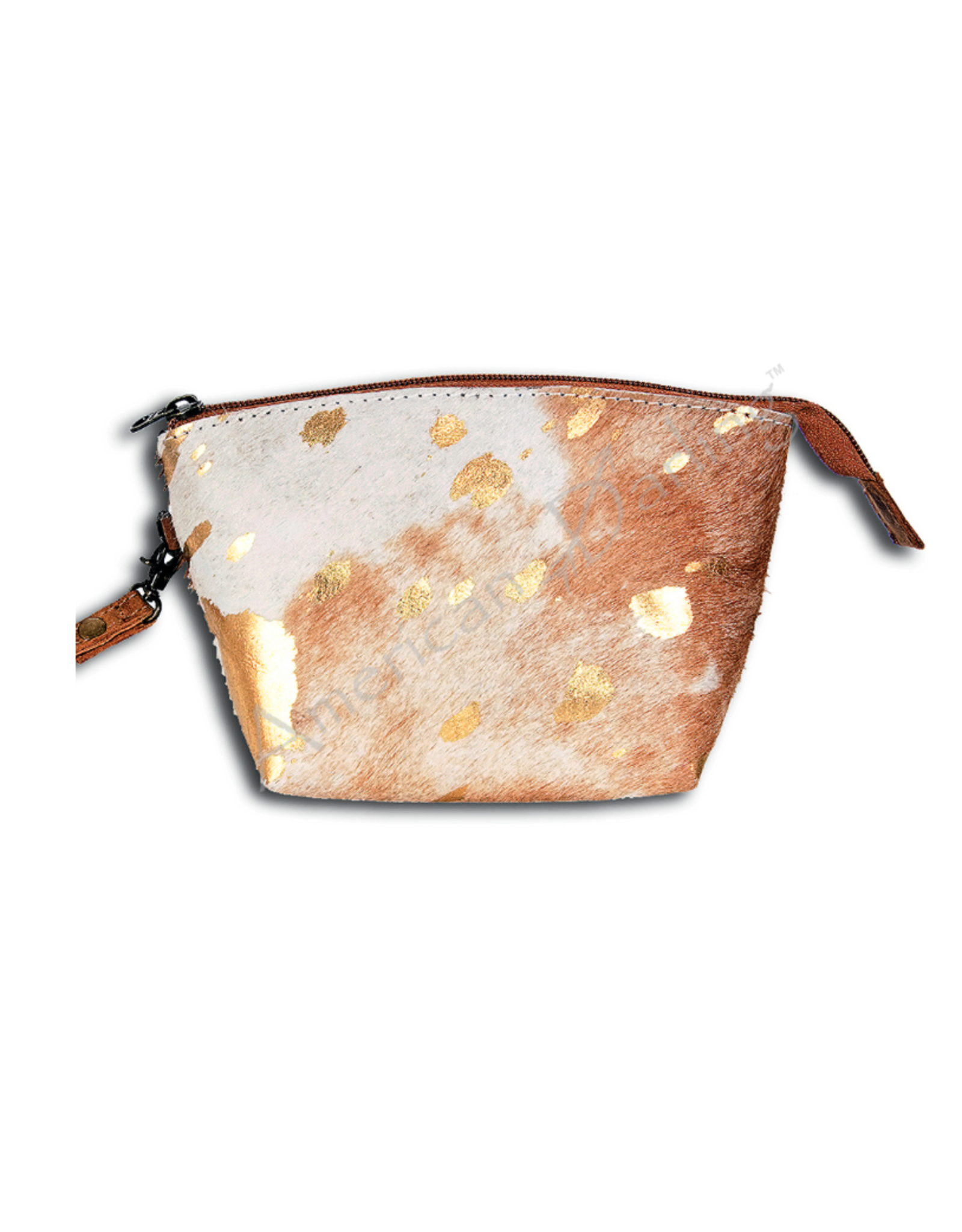 American Darling Tan & Gold Pouch