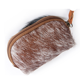 American Darling Brown on White Coin Purse