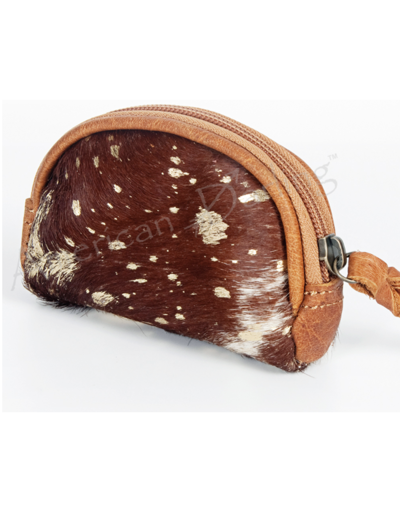 American Darling Brown & Gold Coin Purse