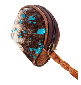 American Darling Brown & Blue Coin Purse