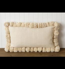 Rectangle Pom Pom Pillow
