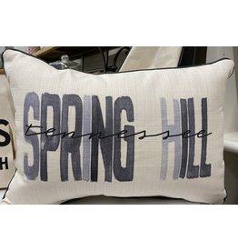 Little Birdie Gray Spring Hill Poster Pillow