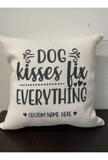 The Good Tree Dog Kisses Custom Pillow