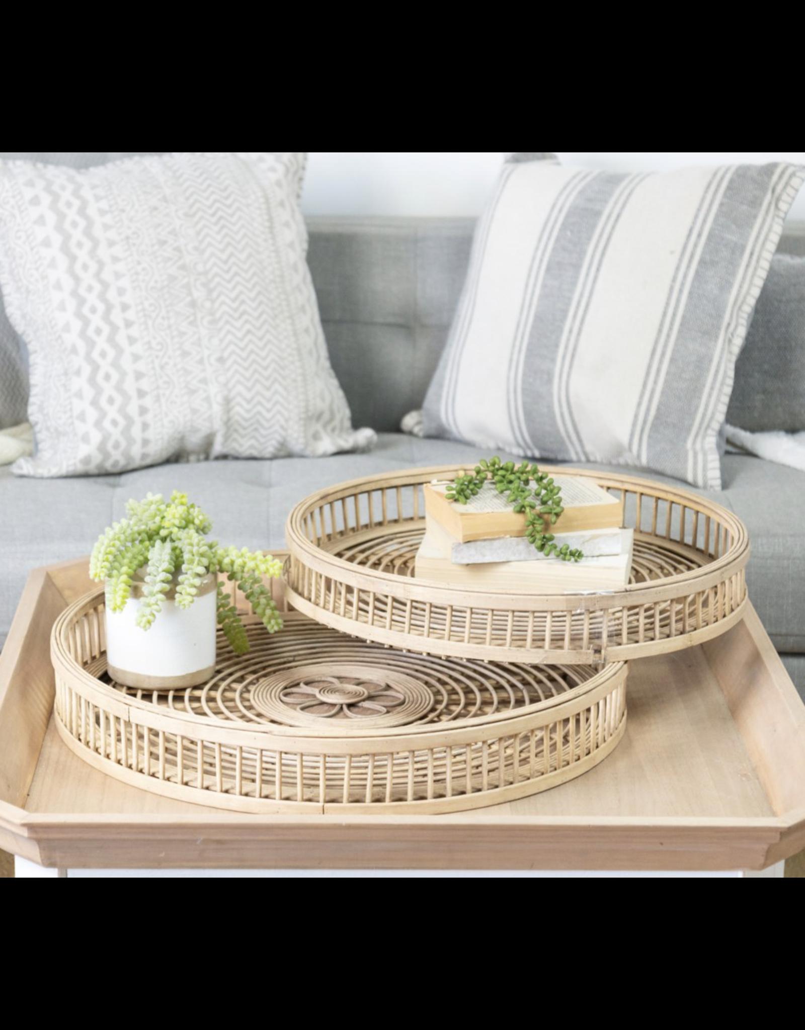 VIP Home & Garden Rattan Tray Small