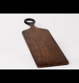 "BIDK Acacia Wood Rectangle Cutting Board 18"" x 7"" Dark Brown"