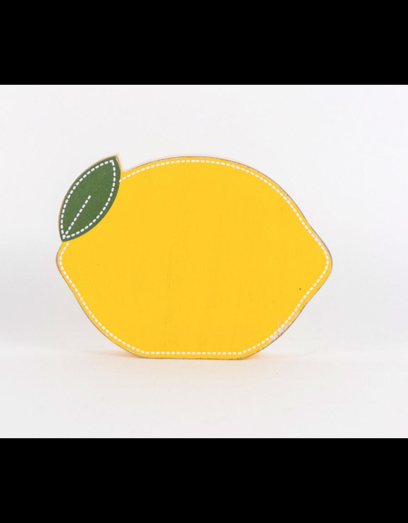 Adams & Co. Decorative Wooden Lemon