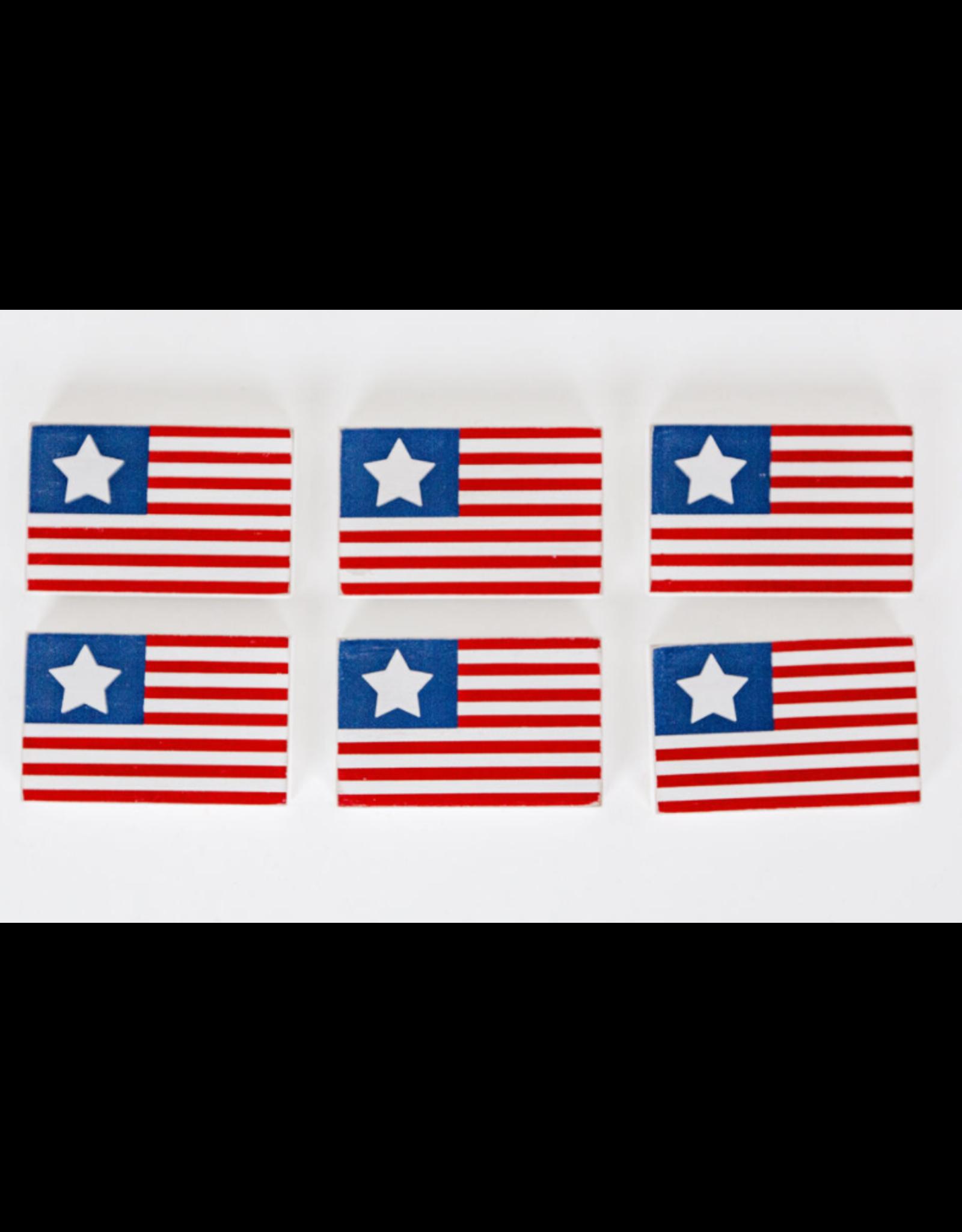 Adams & Co. Flag Wooden Tile