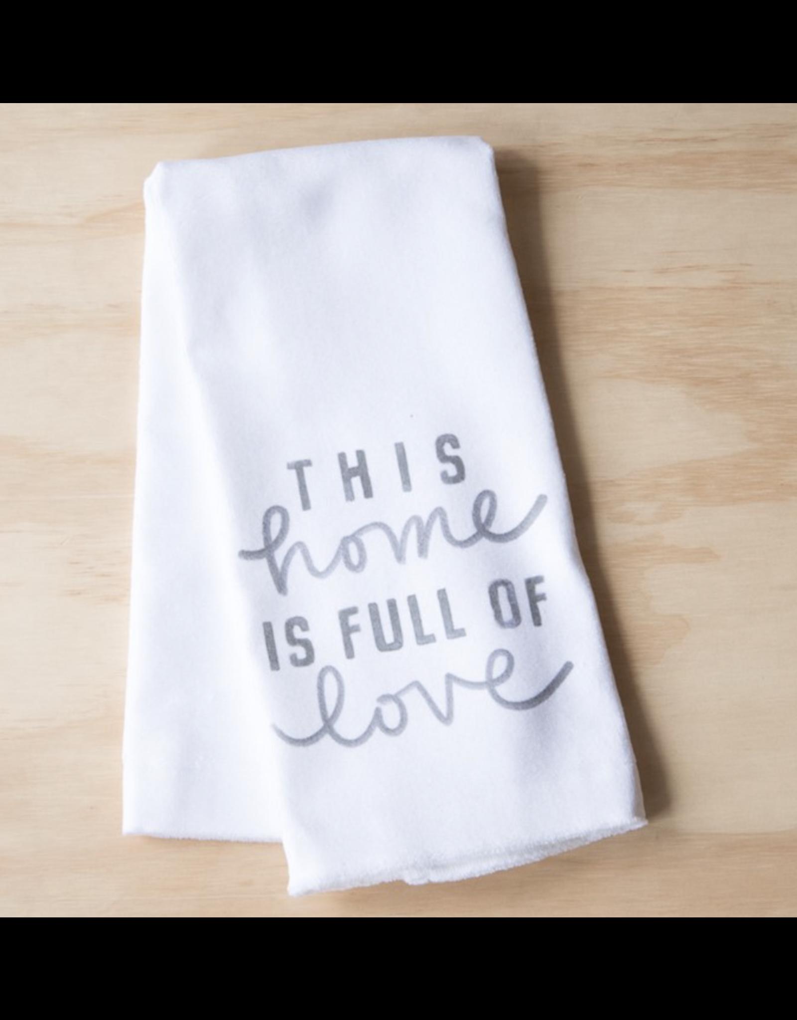 Little Birdie Home Full of Love Tea Towel
