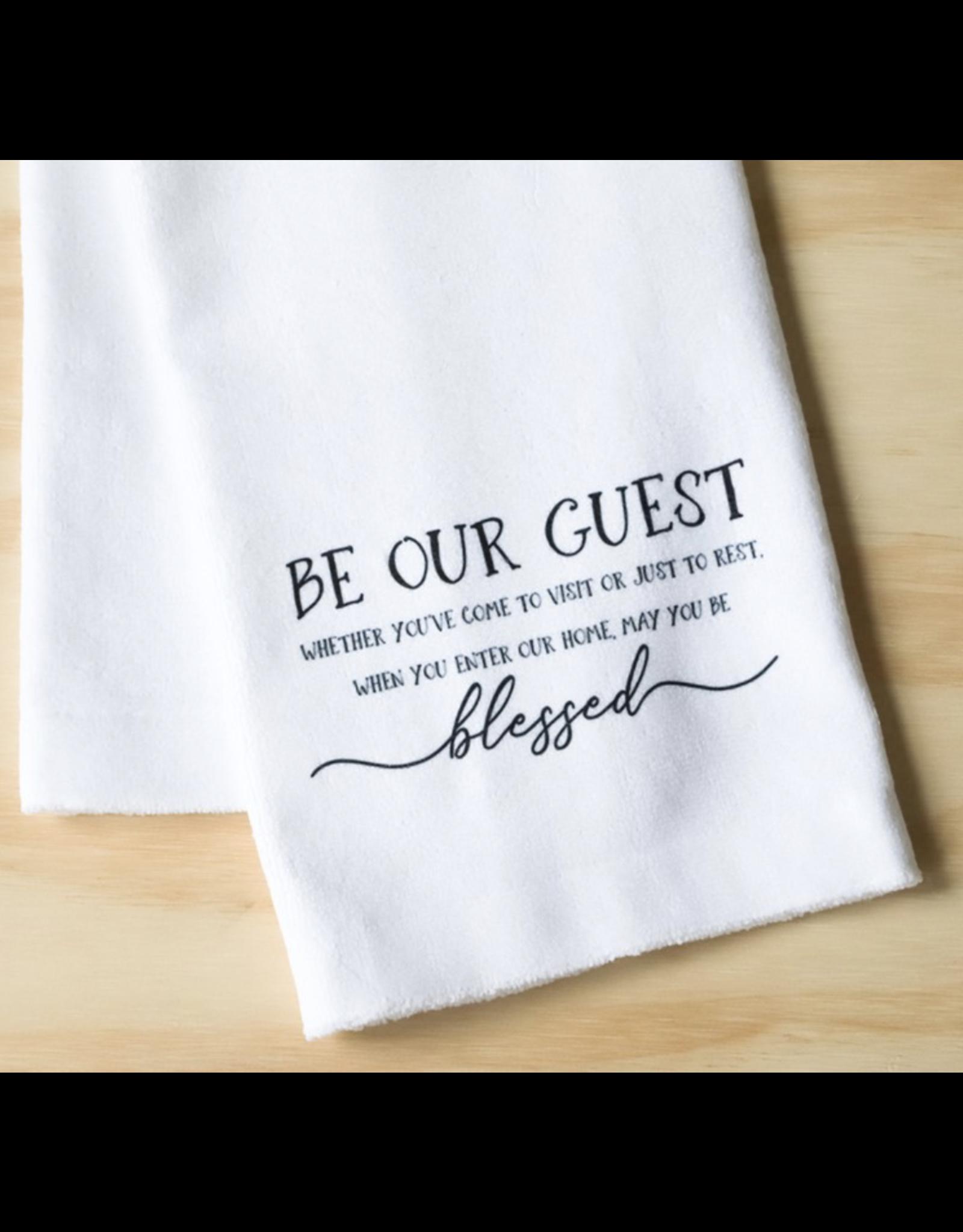 Little Birdie Blessed Guest Tea Towel
