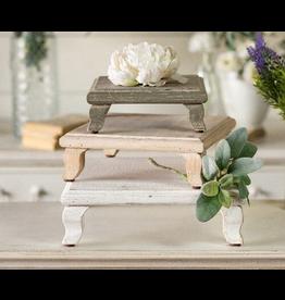 VIP Home & Garden White Wood Riser