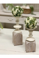 VIP Home & Garden Two Tone Candle Holder Large