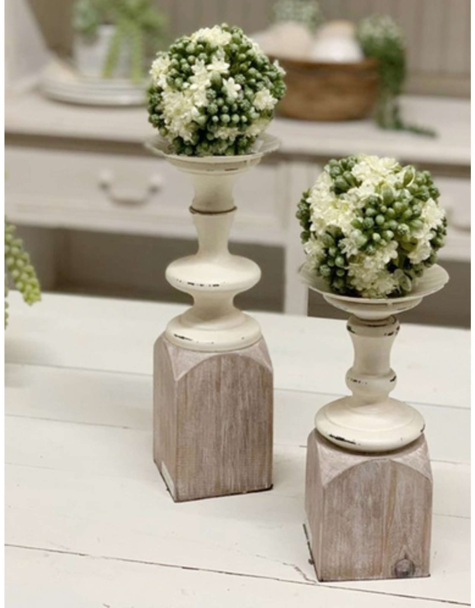 VIP Home & Garden Two Tone Candle Holder Small