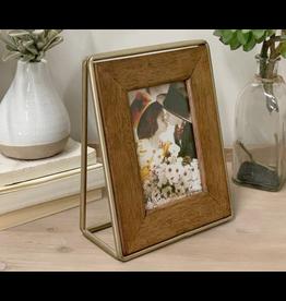VIP Home & Garden Gold Metal & Wood Frame 4 x 6