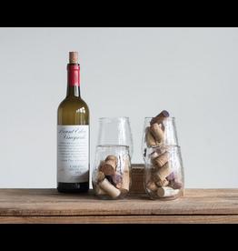 Creative Co-Op Stemless Wine Glass
