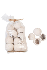 Creative Co-Op Dried Natural Bell Cup in bag Whitewash
