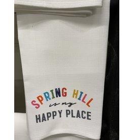 Little Birdie Spring Hill is My Happy Place Tea Towel