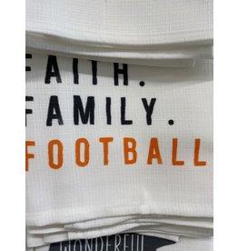Little Birdie Faith, Family & Football Tea Towel