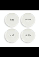 Demdaco Appetizer Plate, set of 4