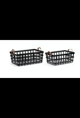 Demdaco Leather Handle Nesting Basket Small