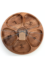 Demdaco Divided Wood Serving Tray