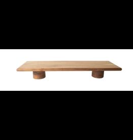 """BIDK Acacia Wood Riser with Feet 31.5"""" Acacia Natural"""