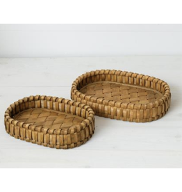 Audrey's Woven Chipwood Tray Large