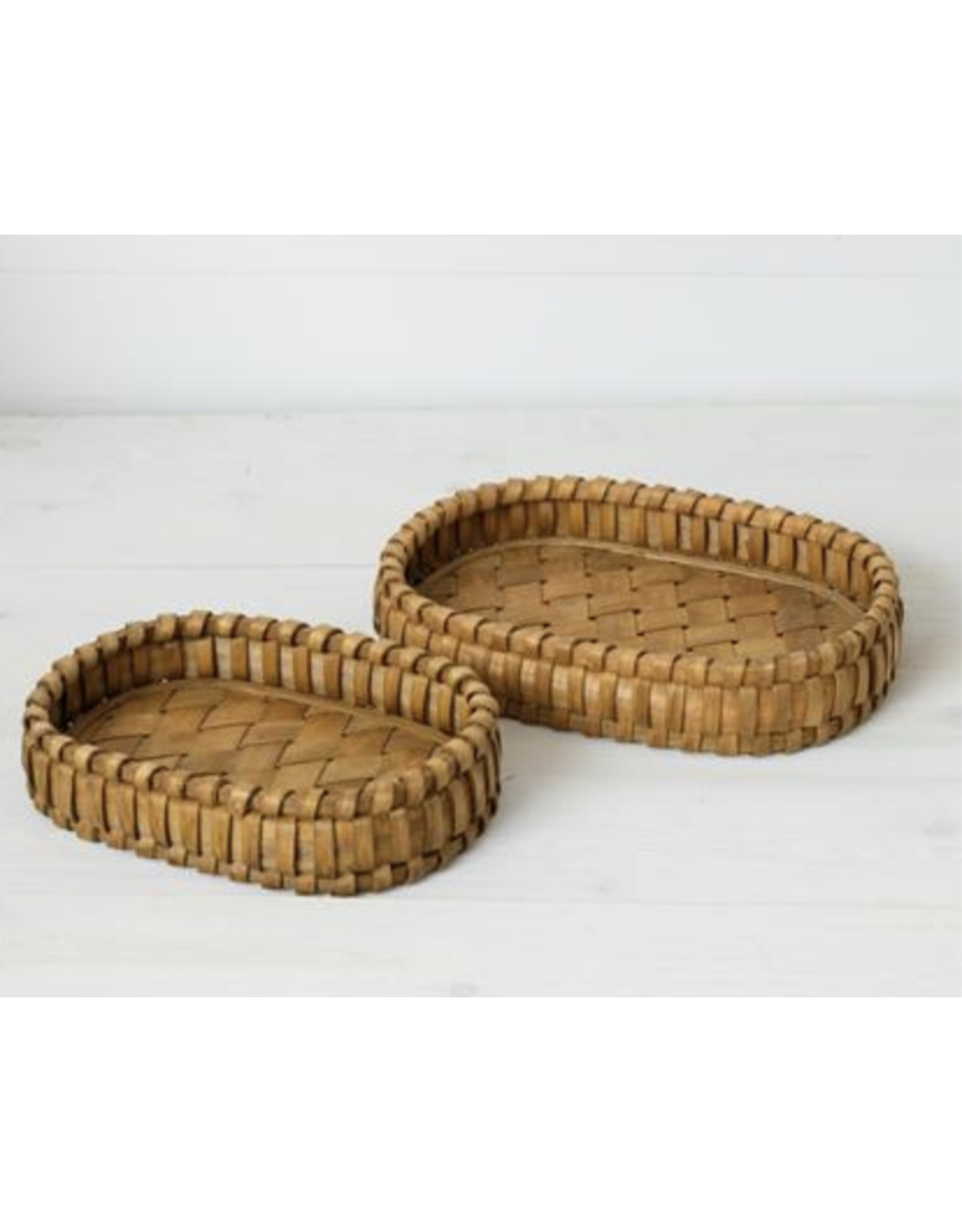 Audrey's Woven Chipwood Tray Small
