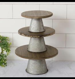 Audrey's Corrugated Metal Riser Medium