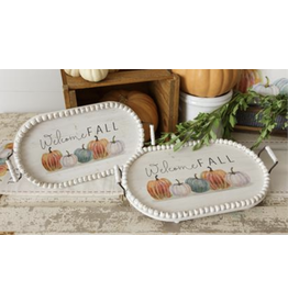 Audrey's Welcome Fall Oval Tray Small
