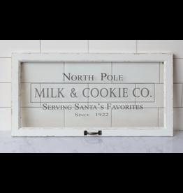 Audrey's Milk & Cookie Co. Window Sign