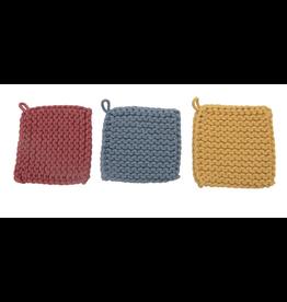 Creative Co-Op Cotton Crocheted Pot Holder