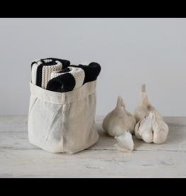 Creative Co-Op Square Cotton Knit Dish Cloths, set of 3