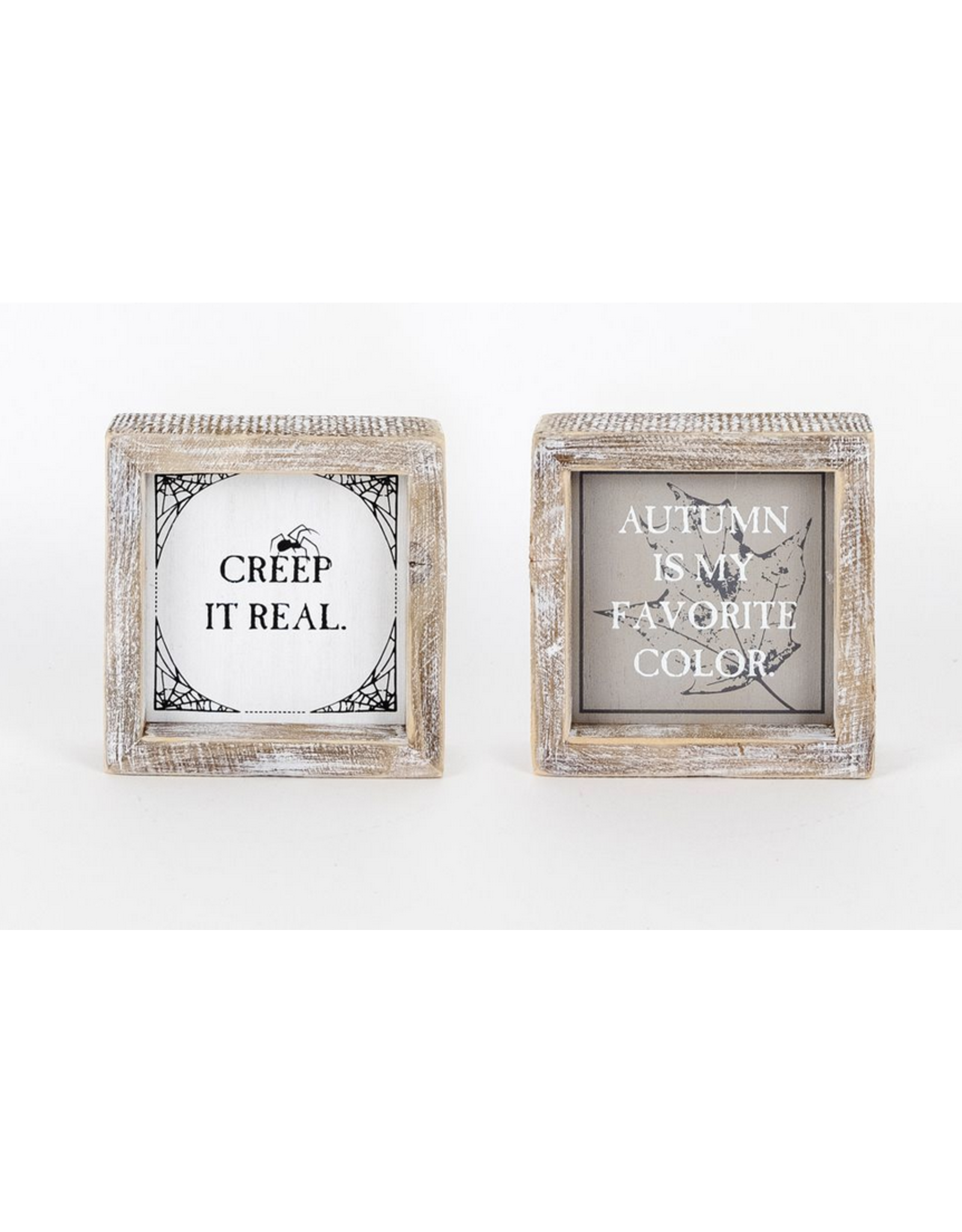 Adams & Co. Autumn Color/Creep it Real Reversible Sign 5 x 5