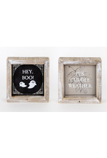 Adams & Co. Hey Boo/Cuddle Weather Reversible Sign 5 x 5