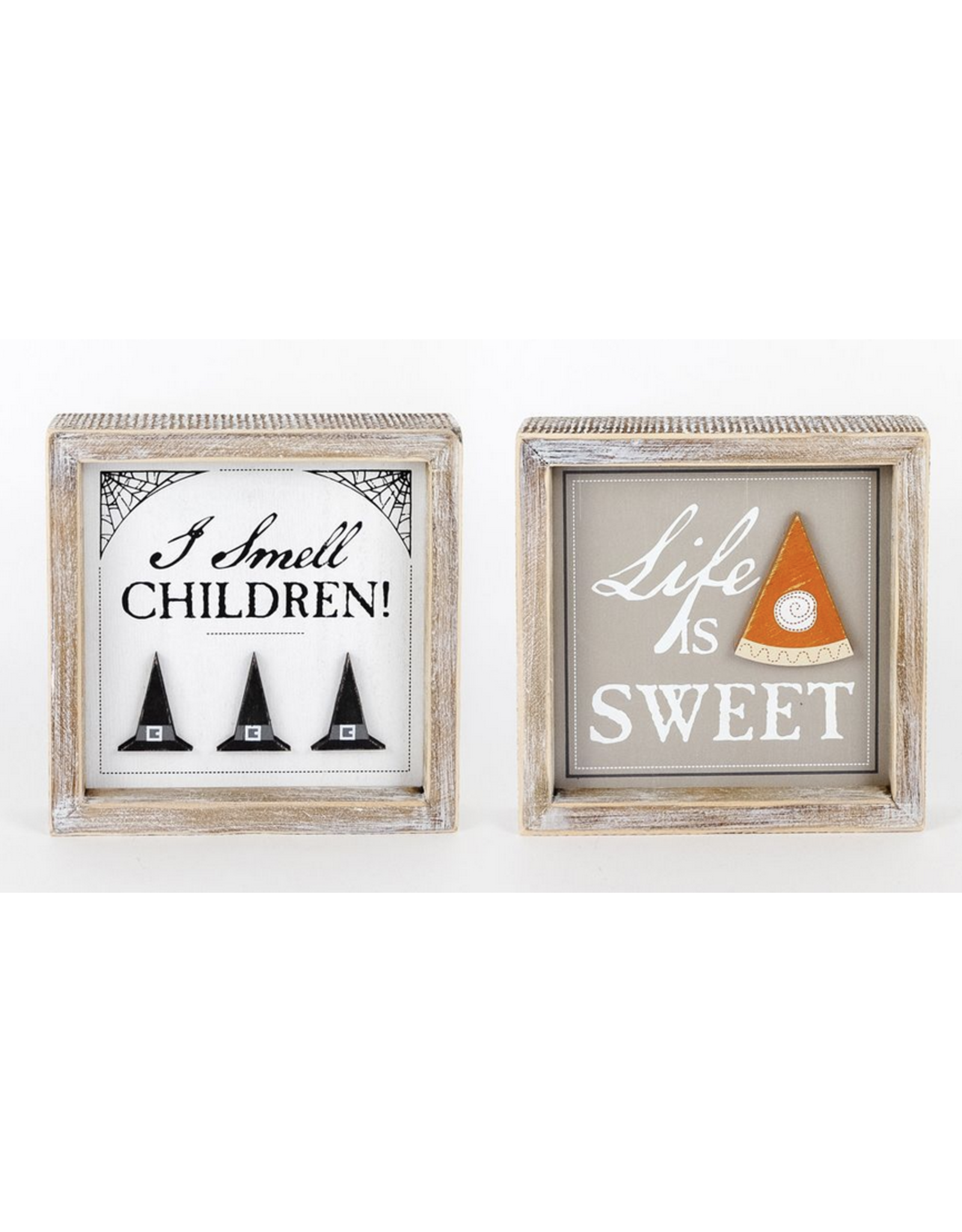 Adams & Co. I Smell Children/Life is Sweet Reversible Sign 7 x 7