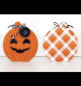 Adams & Co. Reversible Pumpkin Cutout Small