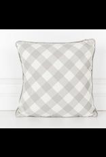 Adams & Co. Hello Fall/Plaid Reversible Pillow