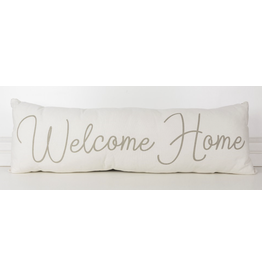 Adams & Co. Welcome Home/Plaid Reversible Pillow