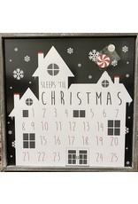 Adams & Co. Sleeps Till Halloween/Christmas Calendar Sign