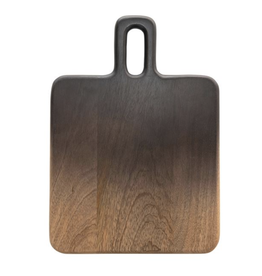 """Bloomingville Mango Wood Cheese/Cutting Board, Black & Natural Ombre 14"""" x 10"""""""