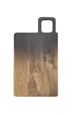"""Bloomingville Mango Wood Cheese/Cutting Board, Black & Natural Ombre 18"""" x 10"""""""